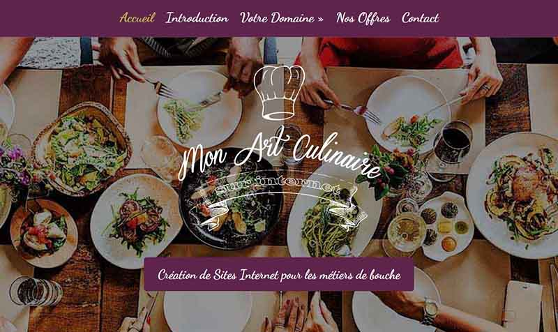 homepage mon art culinaire sur internet >