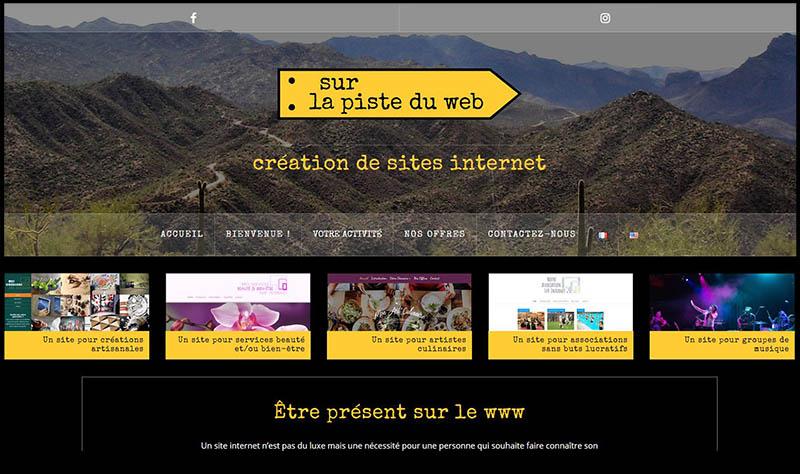 homepage sur la piste du web